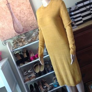 Free People full length sweater dress nwot